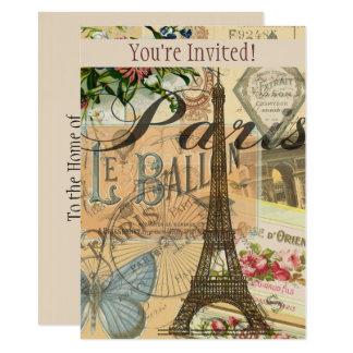 Arte francesa do costume do convite do viagem de