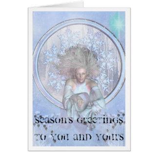 Arte gelado Nouveau do cartão de Natal da imagem