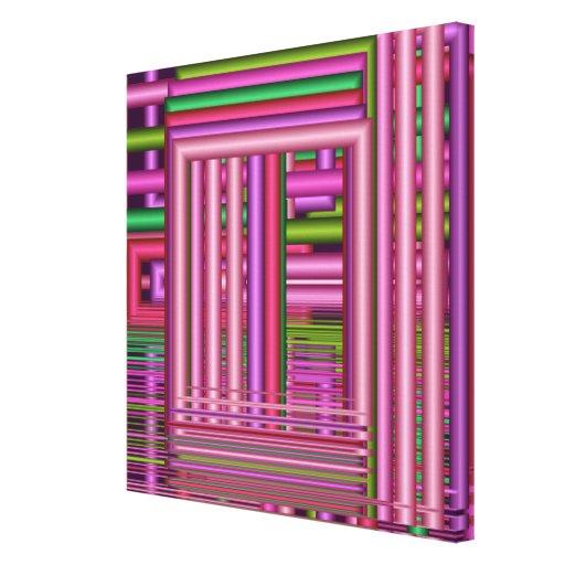 Arte geométrica de Rhytmics em canvas Impressão De Canvas Envolvida