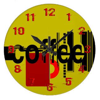 Arte gráfica minimalista do café numerada pulso de relógio grande