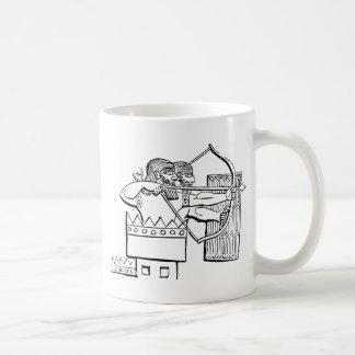 Arte grega do guerreiro caneca de café