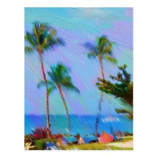 Arte havaiana cartão postal