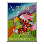Arte histórica Austrália do viagem dos posteres vi