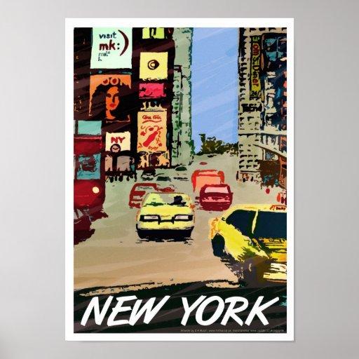 Arte/impressão quadrados do poster de New York Tim