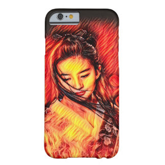 Arte japonesa do Airbrush da menina do espírito do Capa Barely There Para iPhone 6