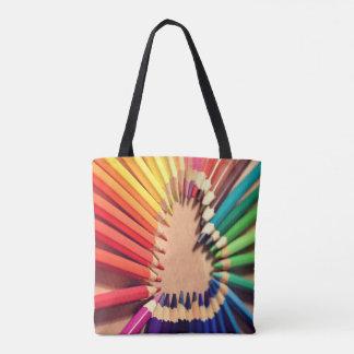 ARTE! Lápis coloridos - saco da arte - bolsa