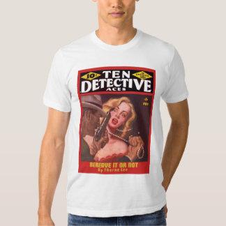 Arte legal da capa de revista da polpa do vintage camiseta