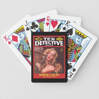 Arte legal da capa de revista da polpa do vintage  jogos de baralhos
