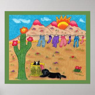 Arte lunática do sudoeste do poster