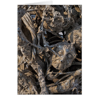 Arte macabramente gritando do Sequin das cabeças, Cartão Comemorativo