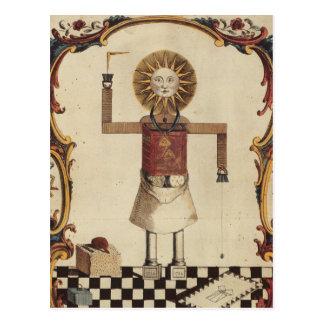 Arte maçónica cartão postal