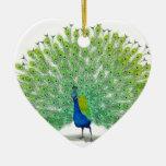 Arte magnífica do pavão enfeite para arvore de natal