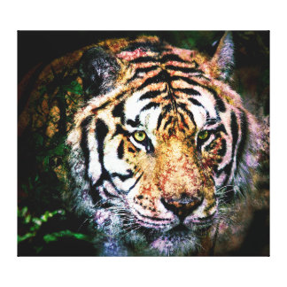 Arte - meios mistos do tigre das canvas impressão de canvas envolvida