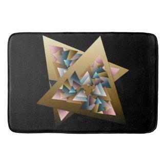 Arte metálica geométrica do triângulo tapete de banheiro