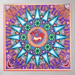 Arte mexicana geométrica grande Giclee Canv da cor Posteres