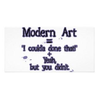 Arte moderna cartão com foto