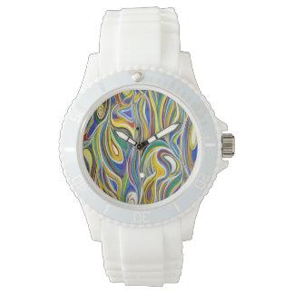 Arte moderna colorida relógio