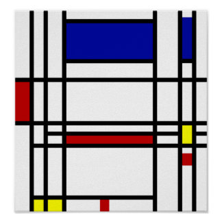 Arte moderna de Mondrian Pôster