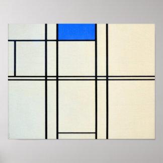 Arte moderna de Piet Mondrian Pôster