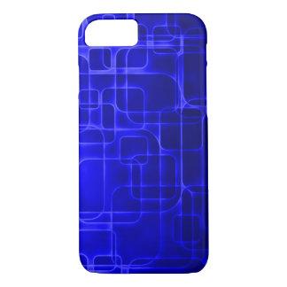 Arte moderna do laser do azul capa iPhone 7