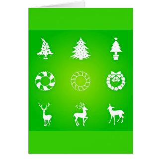 Arte-Natal 118 de Cartão-Feriado do cumprimento Cartão De Nota