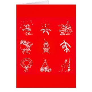 Arte-Natal 119 de Cartão-Feriado do cumprimento Cartão De Nota