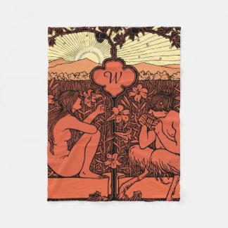 Arte Nouveau do nascer do sol do Hippie Cobertor De Velo