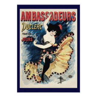 Arte Nouveau do vintage, dançarino do Flamenco, Am Convites Personalizado