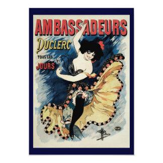 Arte Nouveau do vintage, dançarino espanhol do Convites Personalizado