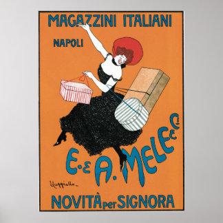 Arte Nouveau do vintage, forma italiana das Poster
