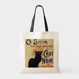 Arte Nouveau do vintage Le Conversa Noir Bolsa Para Compras