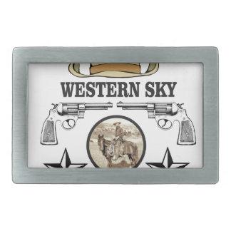 arte ocidental do vaqueiro do céu