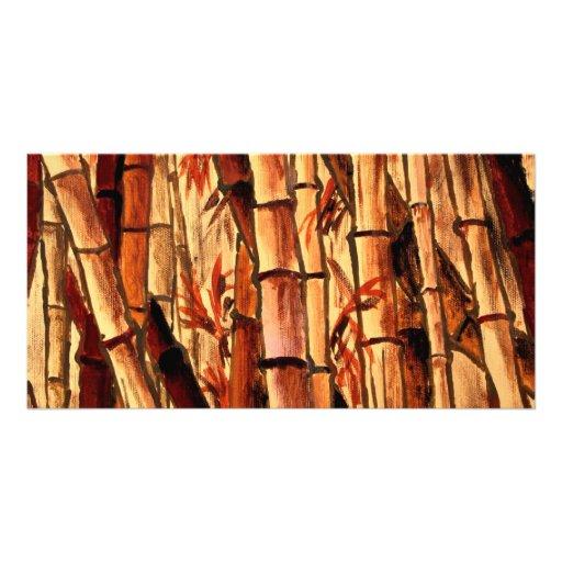 Arte oriental asi tica da pintura de bambu cartoes com for Color bambu pintura