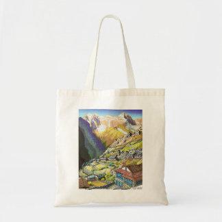 Arte oriental legal da montanha de Tibet da feira  Sacola Tote Budget
