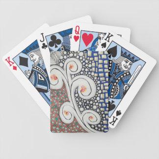 Arte original azul, cartões de jogo jogo de carta