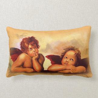 Arte original: Cópia dos anjos de Raphael, querubi Travesseiro