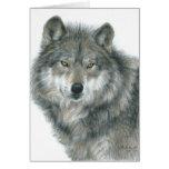 """""""Arte original vazia do lobo dos olhos assombrados"""