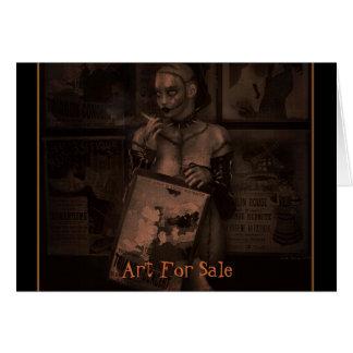 Arte para a venda cartão comemorativo