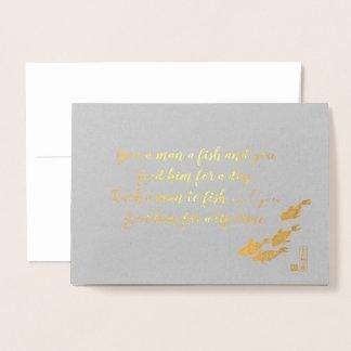 arte para o cartão da folha de ouro da caridade