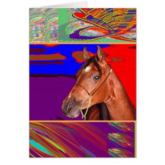 Arte para o sentido de CAVALO Cartão