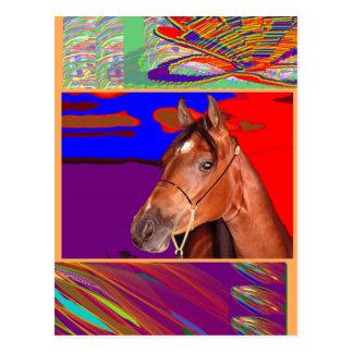 Arte para o sentido de CAVALO Cartão Postal