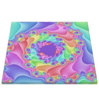 Arte Pastel das canvas da espiral do arco-íris