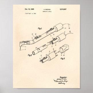 Arte Peper velho da patente da broca 1965 do Pôster