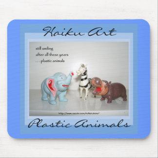 Arte plástica Mousepad dos haicais dos animais