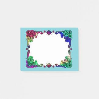 Arte popular colorida boémia floral aciganada de sticky notes