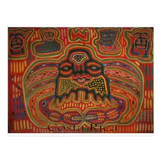 Arte popular Costa Rica Cartões Postais