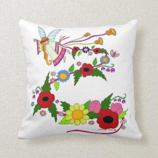 Arte popular do ucraniano do anjo do verão travesseiros de decoração