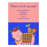 Arte popular do ucraniano do porco de Malanky Convites Personalizados
