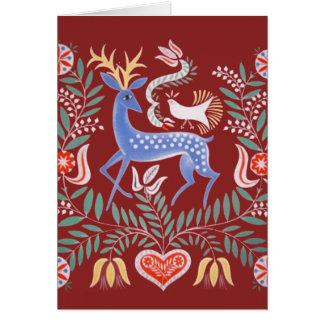 Arte popular húngara cartão comemorativo