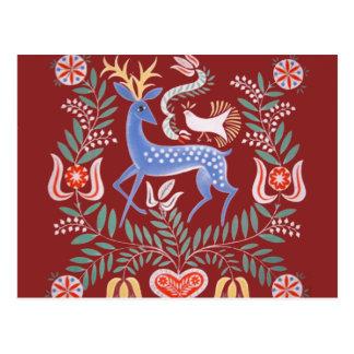 Arte popular húngara cartão postal